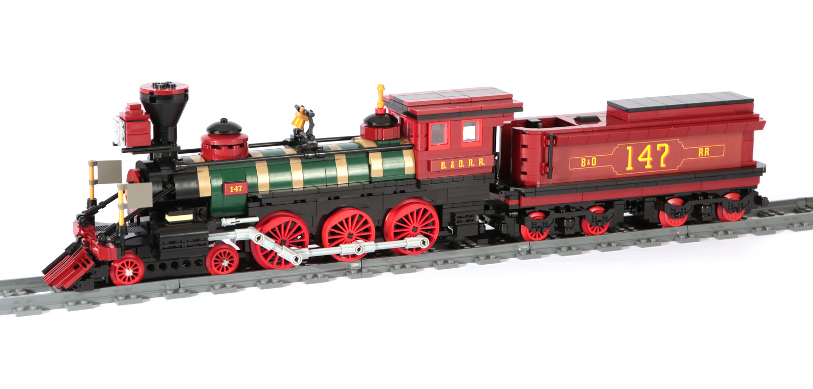 US-Dampflok (Western Lok) Thatcher Perkins (eigene Modelle MOC)