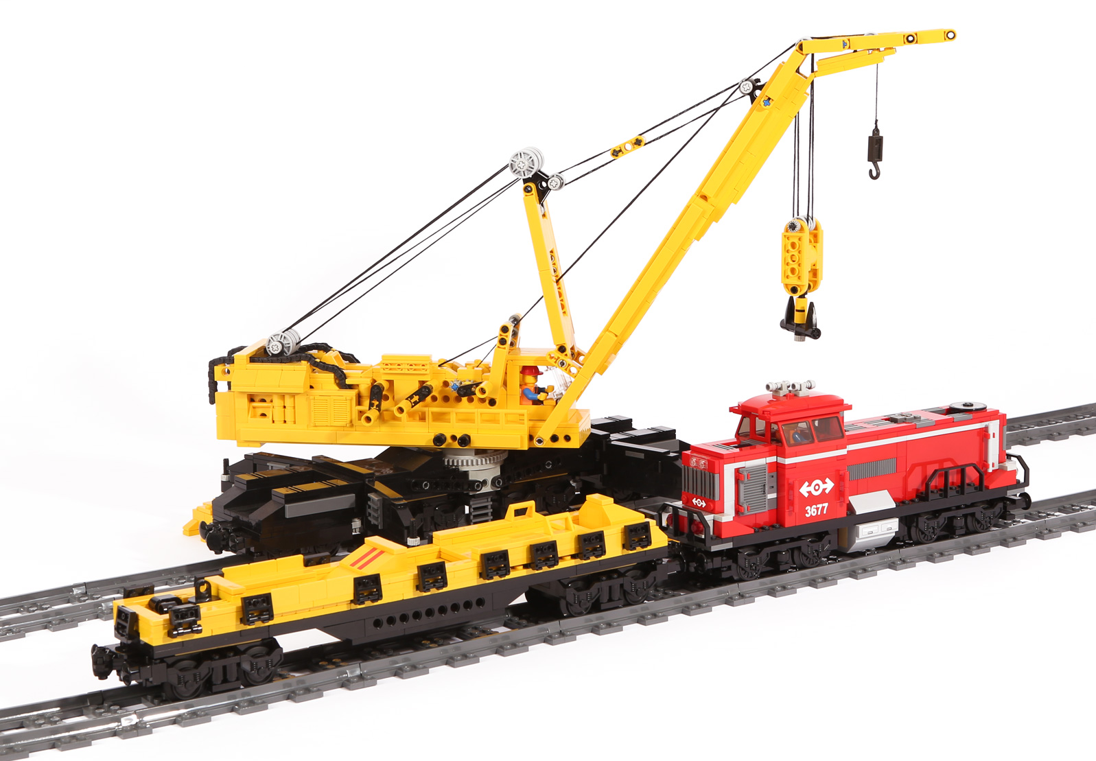 Diesellok-V 100 – Original LEGO Set 3677 (modifizierte Modelle)