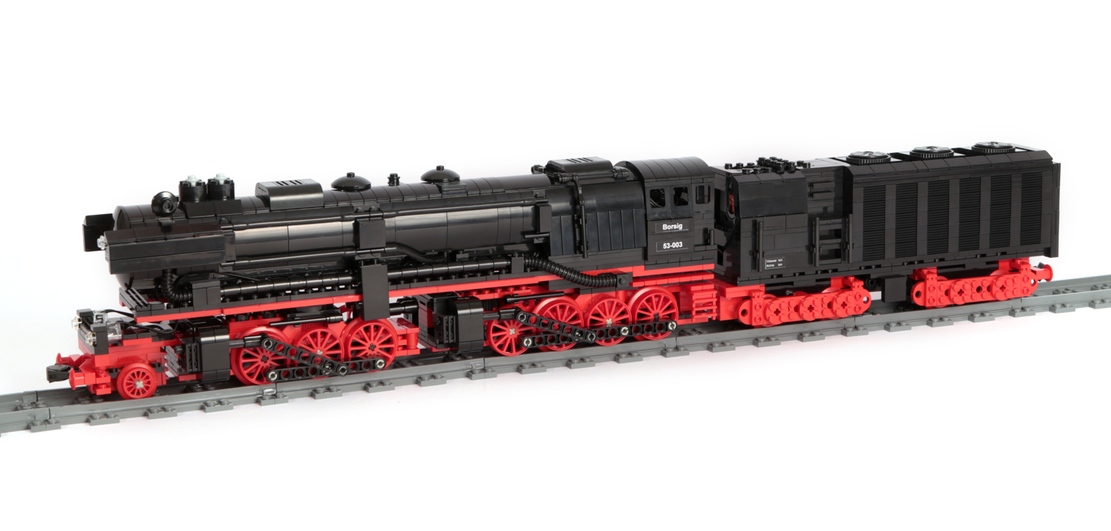 Baureihe BR 53-003 (Mallet) Borsig (eigene Modelle MOC) Radanordnung 1-C-D