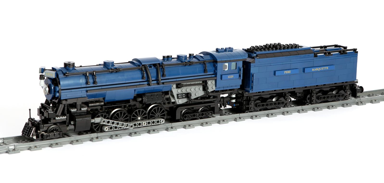 US- Dampflok (Polar Express) Pere Marquette 1225 (eigene Modelle MOC)